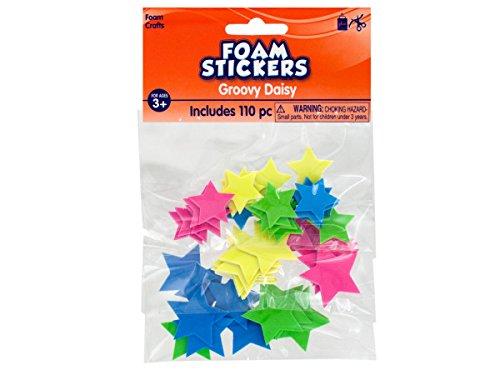 Wholesale Glow In The Dark Foam Stars Stickers - Set of 54, [Crafts, Foam Shapes]