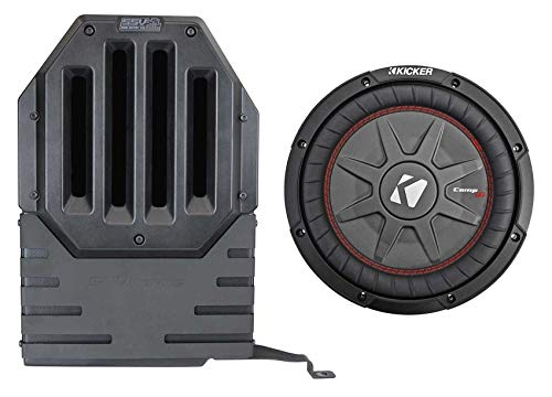 "Kicker 10"" Subwoofer in Sub Enclosure Box for 2017-Up Jeep Wrangler JL 4 Door"