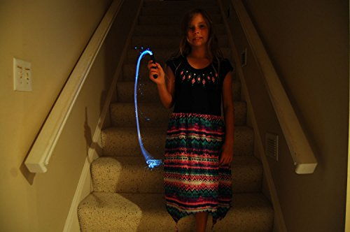 White Fiber Optic Lumi Whip