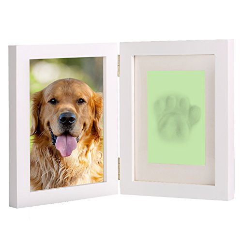 White Personalized Dog or Cat Pet Memorial Frame Paw Prints Desk ...