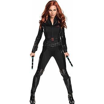 Secret Wishes Women's Captain America: Civil War Widow Costume, Black, X-Small
