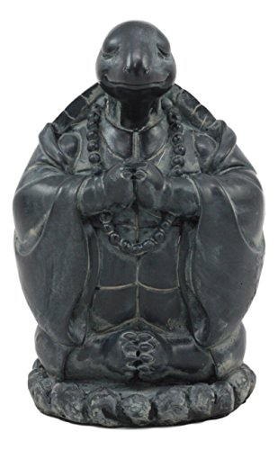 """Ebros Terracotta Blue and White Feng Shui Celestial Sea Turtle Statue 6/"""" Wide"""