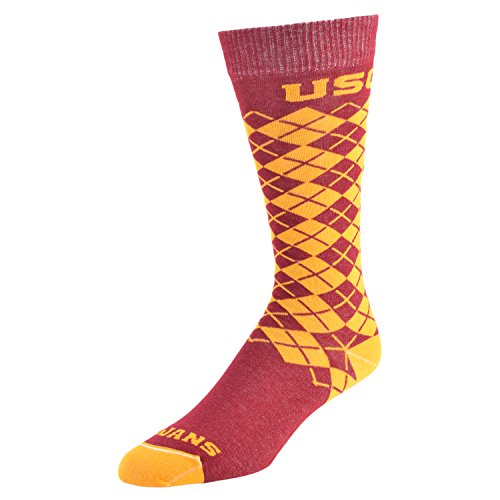 College Edition NCAA (Team) Uni-Sex Premium Made in The USA Knee High Dress Socks - Jersey Knit Argyle, -