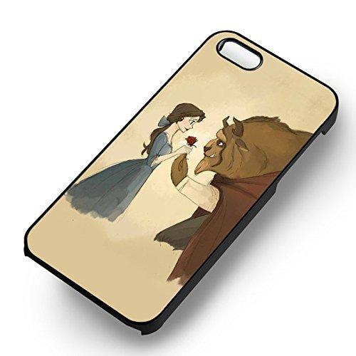 Beauty et the Beast Sweet Moment pour Coque Iphone 6 et Coque Iphone 6s Case (Noir Boîtier en plastique dur) B1P5GU