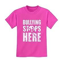 TeeStars - Bullying Stops Here - Wear Pink Against Bullying Kids T-Shirt