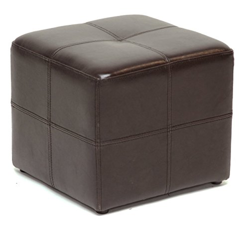 Leather Ottoman Chair Cube Furniture Modern Footstool Footrest (Ashton Bench)