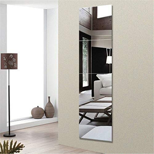 JIANPING Wall-Mounted Decorative Mirror, 4-Piece Art Deco Self-Adhesive Glass Mirror for Children's Bathroom Living Room Wall Mirror (Color : B) by JIANPING