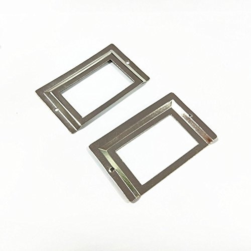 Antrader Tag Label Holder Office File Drawer Handle Business Card Holders Silver Tone 80 x 51mm Pack of 24