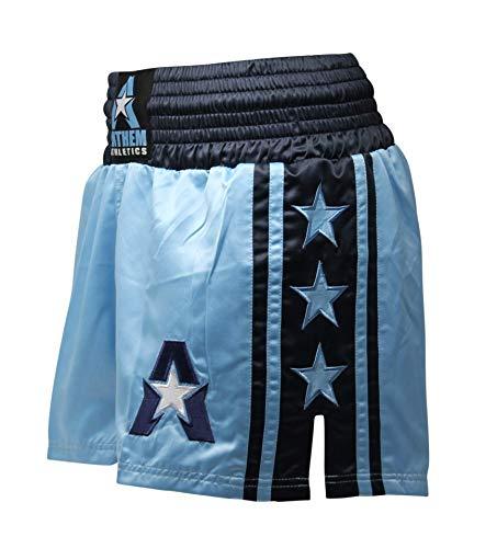 Anthem Athletics Classic Muay Thai & Kickboxing Shorts - Light Blue & Navy - Medium (Best Thai Boxing Shorts)