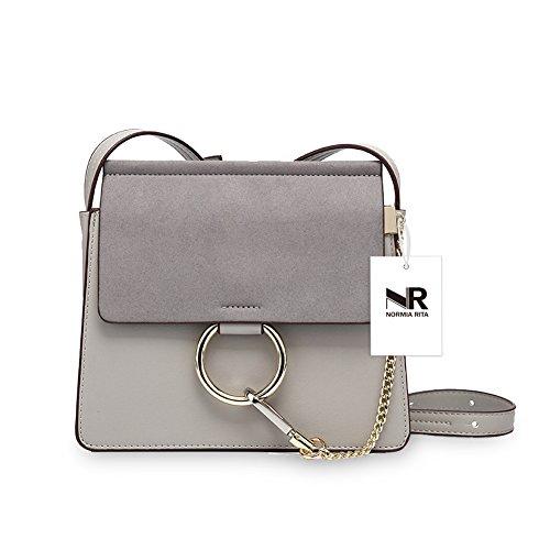 Women Women's Handbags Clutch Body Grey Evening Shoulder Bags Elegant for large Fashion Cross Purses Normia Rita 5S1q8w87