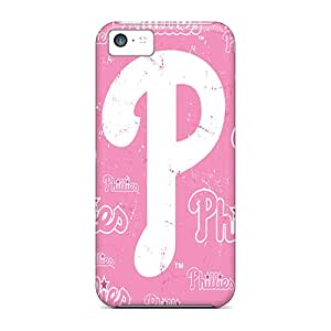 Rugged Skin Case Cover For Iphone 5c- Eco-friendly Packaging(philadelphia Phillies)