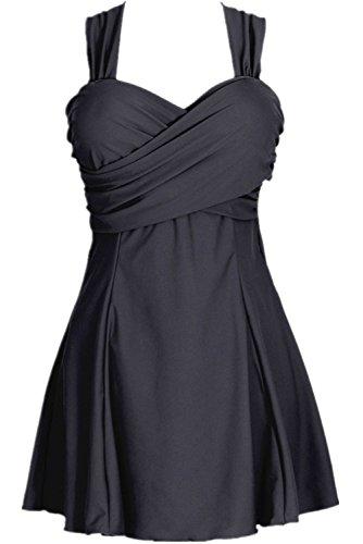 Aidonger de mujer del tallas grandes traje de baño vestido de playa baño de una pieza Rosado