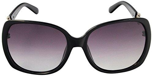 SoMuchSun Oversized Low Nose Bridge Sunglasses (Dana 8194) (Black, Black - Sunglasses Low Bridge