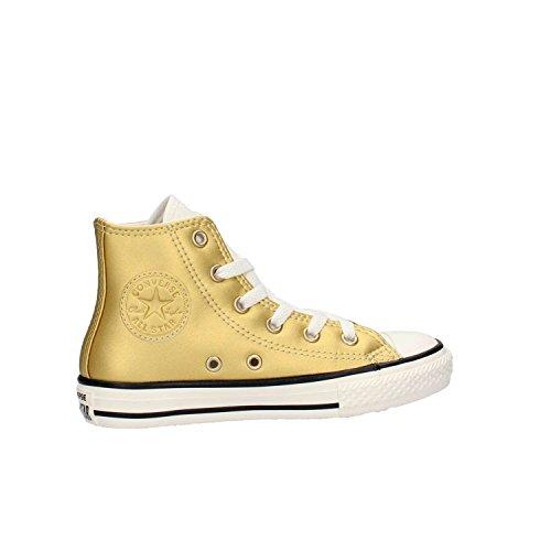 Scarpe Converse Chuck Taylor HI METAL ALL STAR in pelle oro 655126C