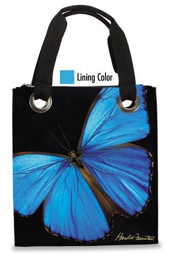 Harold Feinstein Blue Butterfly Modern Medium Tote, Multi, One Size