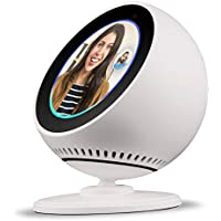 BLUERIN Echo spot Stand, Adjust echos face up and Down Multi Viewing Angle Adjustment 360 Rotation Bracket Mount with Magnetic Base for Echo Spot (White)
