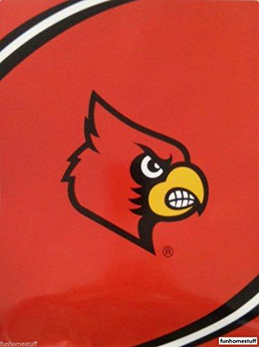 The Northwest Company NCAA Louisville Cardinals Force Royal Plush Raschel Throw Blanket, 60x80-Inch (Louisville Cardinals Ncaa Plush)