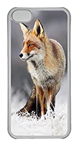 iPhone 5S Case, iPhone 5S Cases - Funny Hard Case for iPhone 5S The Fox And The Hoar Frost Slim Fit Hard Back Cover for iPhone 5S