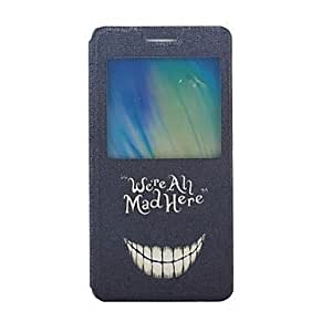 LHY Smile Face Pattern PU Leather Full Body Case with Stand and Card Slot for Samsung Galaxy A5