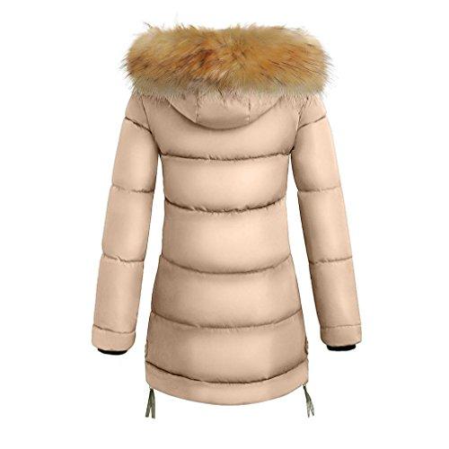 Puffer Donne Inverno Delle Kaki Soprabito Parka Piumino Color Misaky Cappotto Lungo Spessa x6qRnXCXw