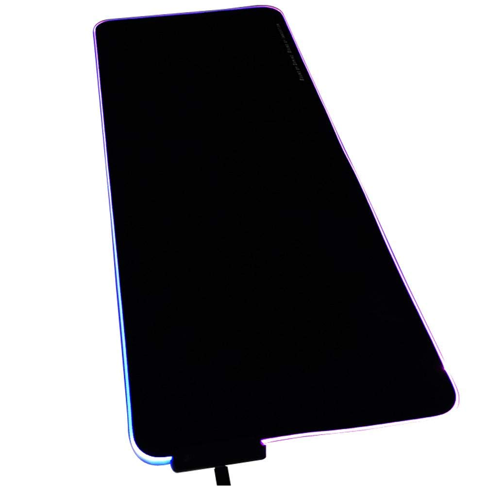 ehind Alfombrilla Raton Mouse Pad Mouse Mat De Extendidos Impermeables Gruesos De Mat LED Luminosos Suaves RGB Pad De Base De Goma Antideslizante(Negro) 035417