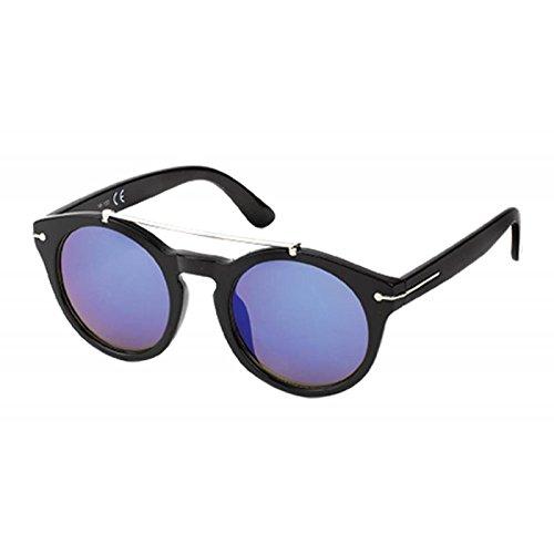 f2c57f198d Chic-Net Gafas de sol gafas redondas Panto soporte metálico 400 UV moldura  superior azul: Amazon.es: Ropa y accesorios