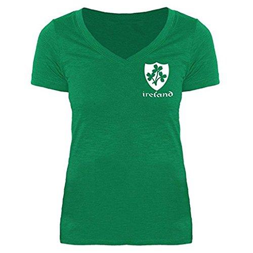 Cheap WOCACHI Women Blouse Shamrock Green V-Neck Short Sleeve T-Shirt Tee Clover Tops