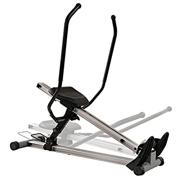 Sunny Health Fitness Incline Full Motion Rowing Machine Rower with 350 lb Weight Capacity and LCD Monitor
