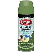 Krylon K02445000 Fusion For Plastic Spray Paint, Satin Fern, 12 Ounce