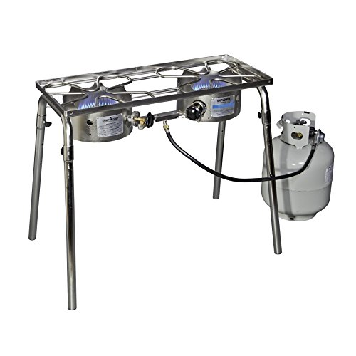 Camp Chef Stainless Explorer Two-Burner - Gas Fire Camp Ring Chef