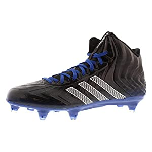 Adidas Crazyquick Mid D Mens Football Cleats 9.5 Black-White-Royal