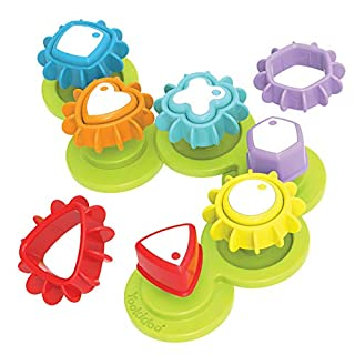 Yookidoo Shape 'N' Spin Gear Sorter. A Developmental Activity Toy for Kids Ages 1-3. Toddlers Sortering Game with Multiple Colors and Shapes, That Also Spins.
