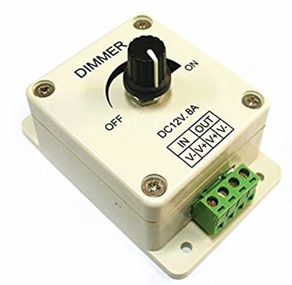 LEDwholesalers dispositivo para LED luz halógena bombillas DC 12 V lámpara de regulador de intensidad,