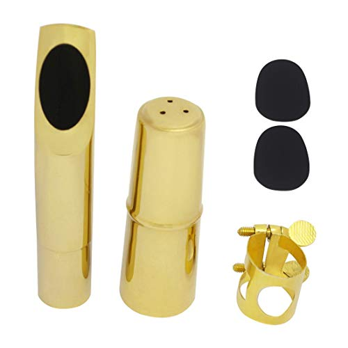 Bowbof - TOKKY Woodwind Instrument Accessories Saxophone Metal Flute Head Button Flute Head Cover Tooth Pad Saxophone Part