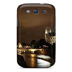 Durable Protector Case Cover With Fantastic Night View Of Notre Dame Cathedral Hot Design For Galaxy S3