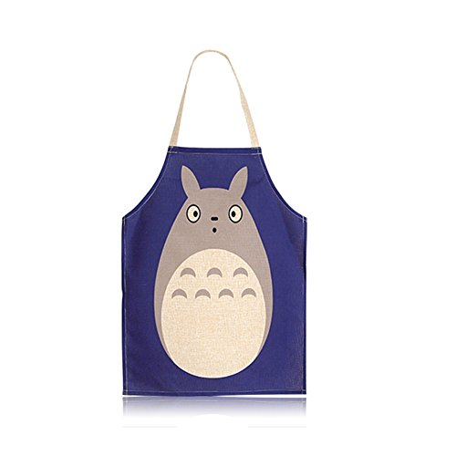 Creative Unisex Japanese Apron Cute Cartoon Durable Personality Kitchen Cooking Aprons My Neighbor Totoro Aprons for Kid Girls by First Kitchen