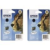 Epson T0711 Ink Cartridges - Black (Twin Pack)
