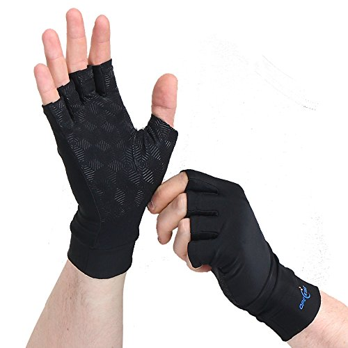 Copper Arthritis Gloves - Relieve Arthritis Joint Pain Symptoms, Raynauds Disease & Carpal Tunnel (Rheumatoid Arthritis Gloves)
