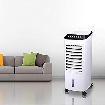 Yescom Portable Evaporative Air Cooler Fan Humidifier with Remote Control Ice Boxes Energy Saving Indoor Home Office 65W