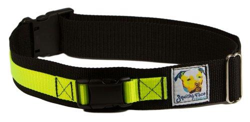 Squishy Face Studio Hands Free Dog Leash Belt, Small/Medium, Neon Yellow