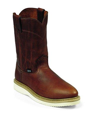 Justin Men's Premium Wedge Work Boot Steel Toe Tan 13 D(M) US