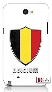 Belgium Flag Badge Direct UV Printed Quality Hard Snap On For SamSung Galaxy S5 Case Cover (WHITE)