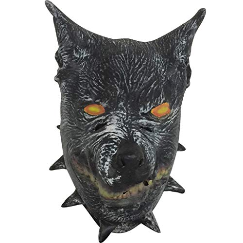 QIAO Wolf Mask Halloween Props Animal Mask Decoration Cosplay Party Tricks Latex Props Costume Ball Head Cover (Color : A) -