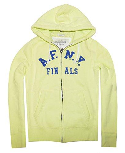 Abercrombie & Fitch Men Full Zip Applique Graphic Hoodie (M, Arctic Lime)