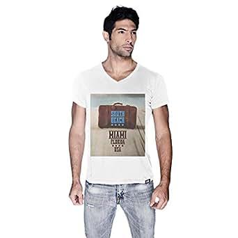 Creo Bag On Beach T-Shirt For Men - L, White