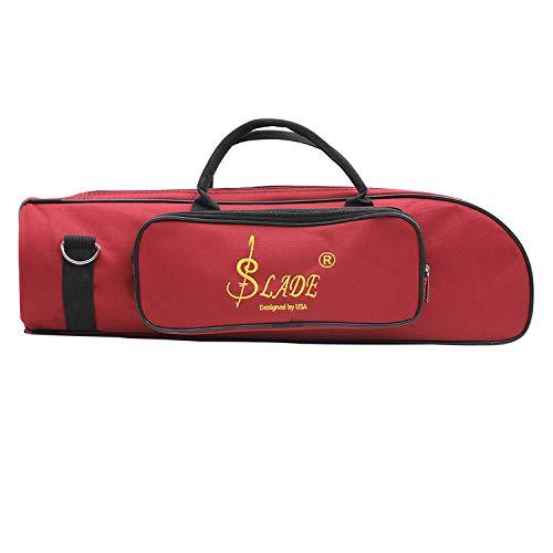 YIWA - Bolsa de Almacenamiento para Trompeta Profesional, Doble Cierre, portátil, Rojo