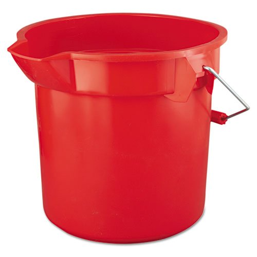 * 14-Quart BRUTE Round Utility Pail, Plastic, 12dia x 11 1/4h, Red