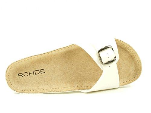 Rohde Rohde Riesa Mules Femme Riesa Weiß wZwqxv0r