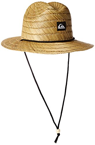 Quiksilver Men's Pierside Slim Straw Hat, Natural, (Raffia Woven Hat)