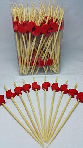 Wow Bamboo - Decorative Moon Bamboo Picks 3.5